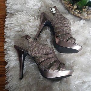 Style and co Sierra mink 9.5M women heels sparklin